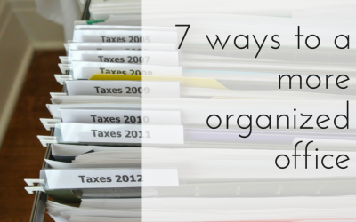 7 ways to Clear Office Clutter