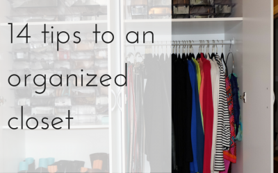 14 ways to Organize a Closet