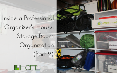 Inside a Professional Organizer's House: Storage Room Organization (Part 2)