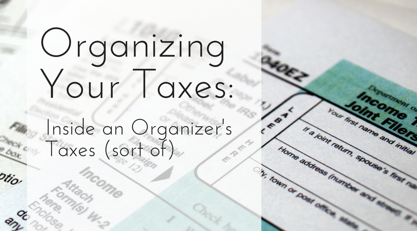 Organizing Your Taxes: Inside an Organizer's Taxes (sort of)