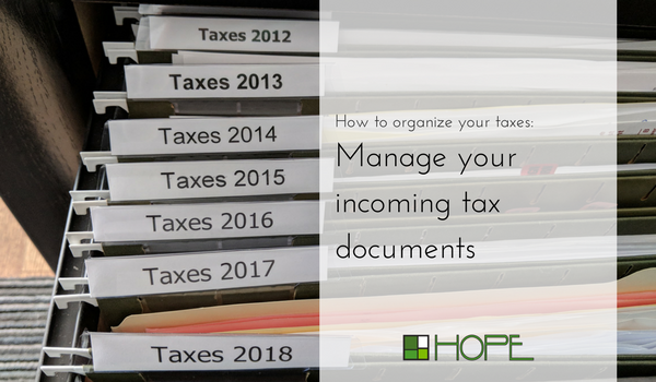 how to organize your taxes, hope organizing