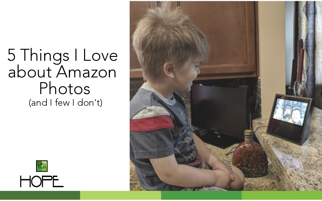 Little boy looking at Amazon Echo Show