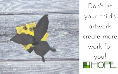 Don't Let Your Child's Artwork Create Work For You!
