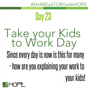 Share a Story about Take your Kids to Work Day