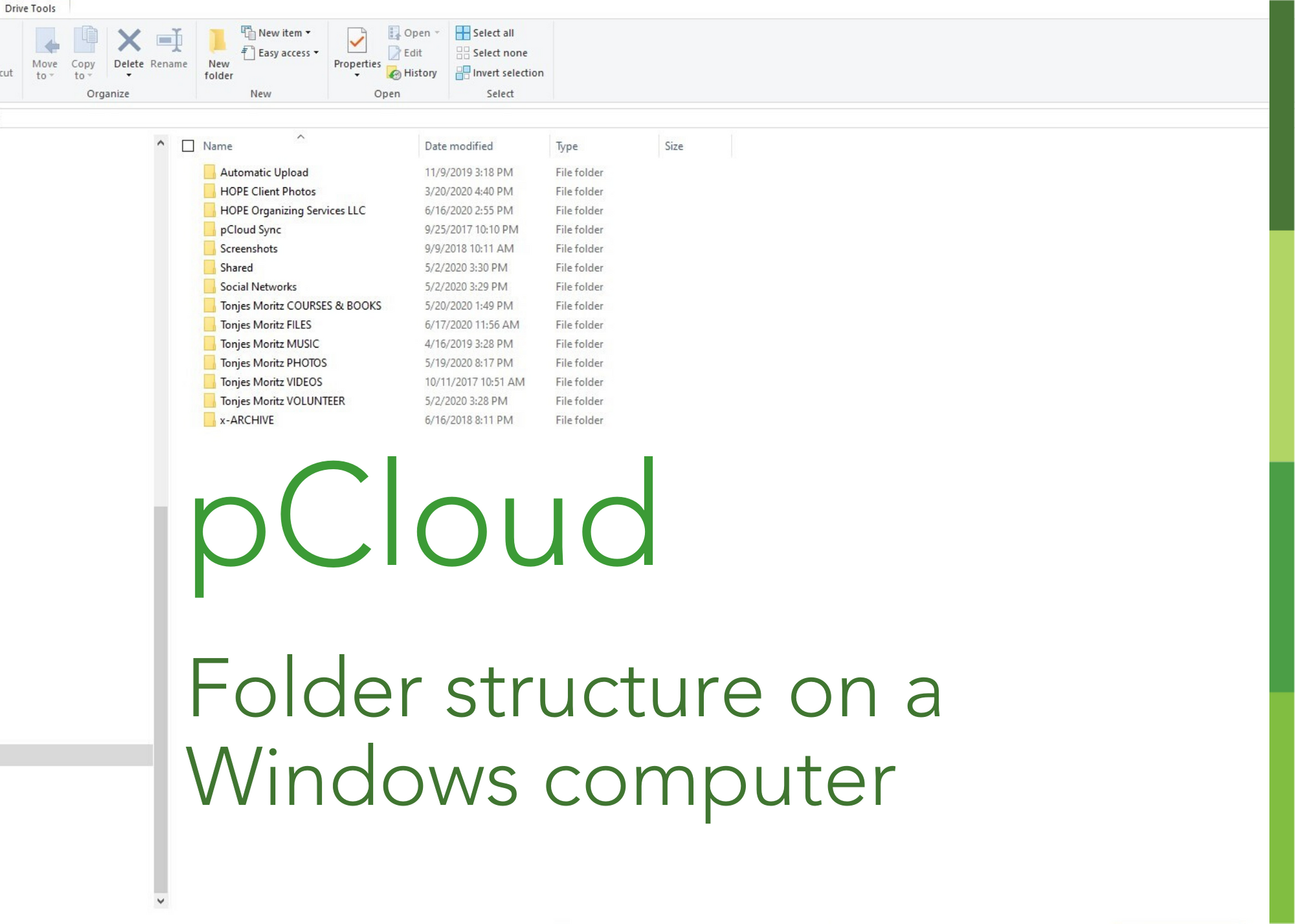 pcloud folder on pc computer