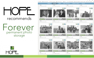 HOPE recommends FOREVER for photo storage