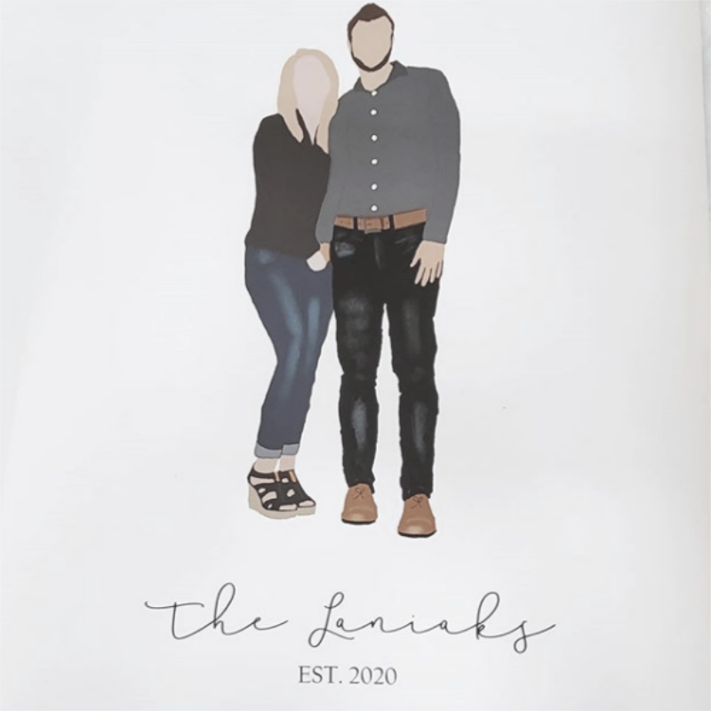 Watercolor of a couple