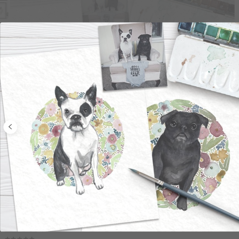 Water Color of dogs